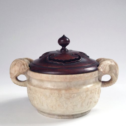 Asian Art & Antiques  - China, An unusual soapstone censer, Ming Period.
