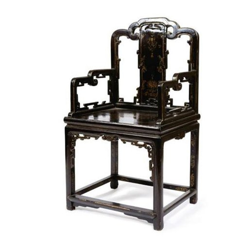 China, Lacquered armchair, Kangxi period
