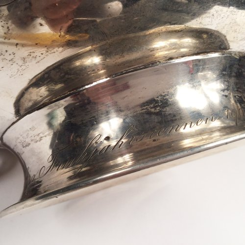 - China,  Large Sterling silver bowl  by Luen Wo in SHanghai