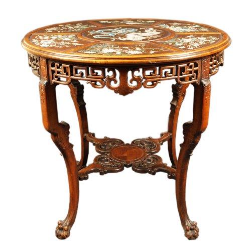 Guéridon Table  attributed to Gabriel Viardot for la Maison des Bambous.  l - Furniture Style