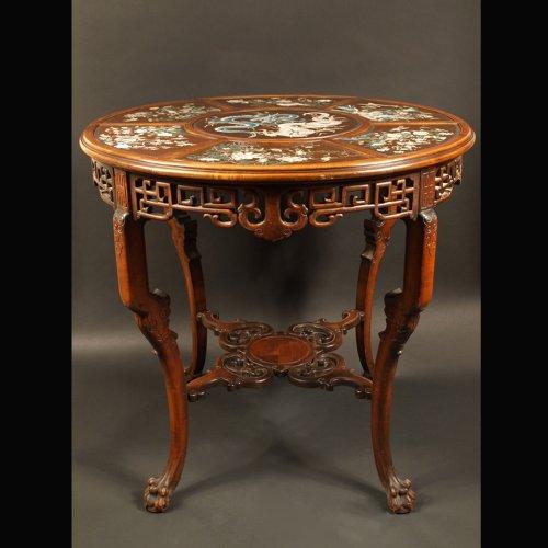 Furniture  - Guéridon Table  attributed to Gabriel Viardot for la Maison des Bambous.  l