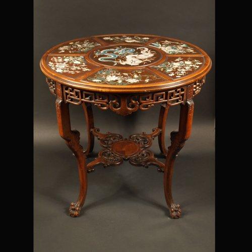 Guéridon Table  attributed to Gabriel Viardot for la Maison des Bambous.  l -
