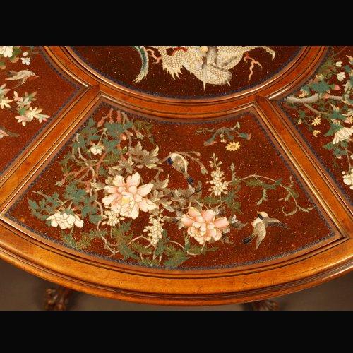 - Guéridon Table  attributed to Gabriel Viardot for la Maison des Bambous.  l