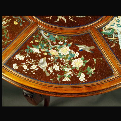 Antiquités - Guéridon Table  attributed to Gabriel Viardot for la Maison des Bambous.  l