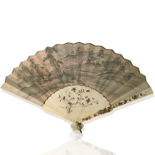 Japan, silk and shibayama ivory handfan, Meiji Period - Objects of Vertu Style