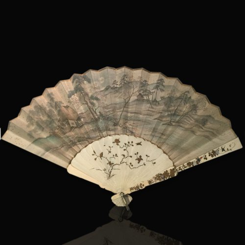 Objects of Vertu  - Japan, silk and shibayama ivory handfan, Meiji Period