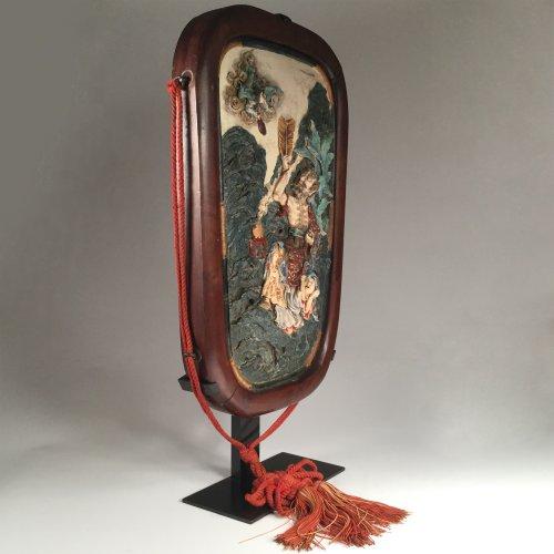 Japon, Satsuma, pair of wall plaques by Eizan Kawamoto, circa 1900. - Asian Art & Antiques Style