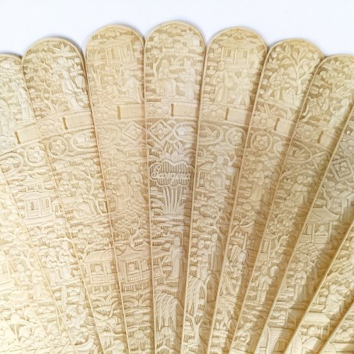 China, Unusual Chinese export ivory fan circa 1800-1820 - Objects of Vertu Style