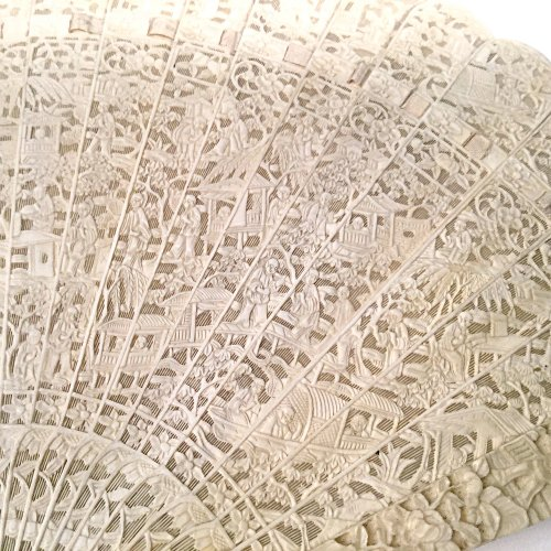 Asian Art & Antiques  -  Chinese export ivory fan circa 1820 - 1850