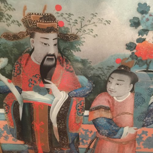 Asian Art & Antiques  - Chinese export reverse glass painting, China circa 1840-60