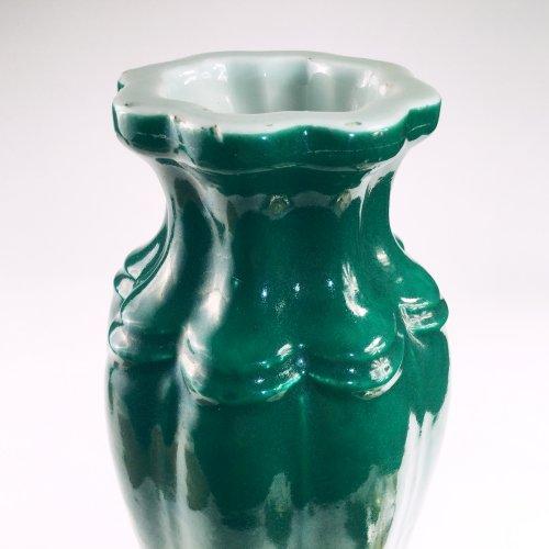 - China, Apple green  porcelain vase