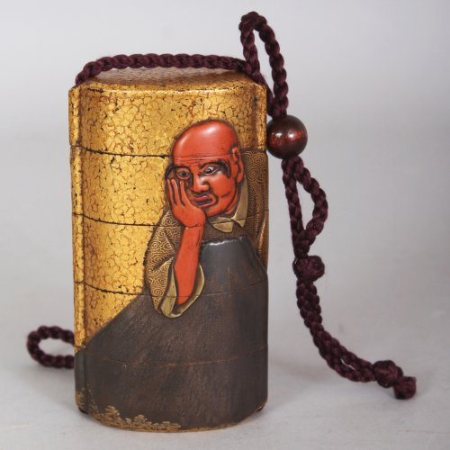 19th century - lacquer Inro attributed to Ipposai - Japan Meiji period