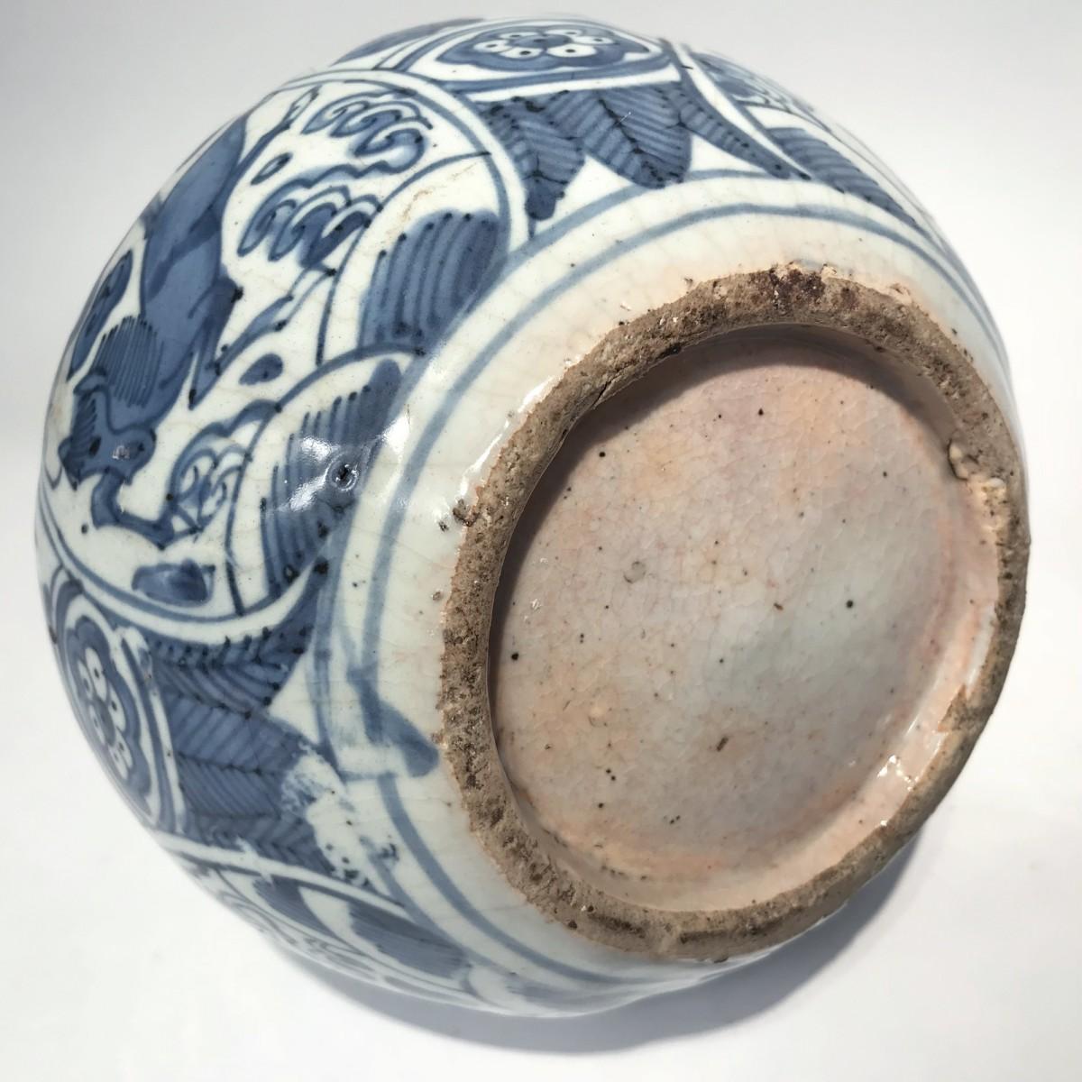 Paris Porcelain Art Nouveau Period Lamp Chinese Taste: Double-gourd Porcelain Vase