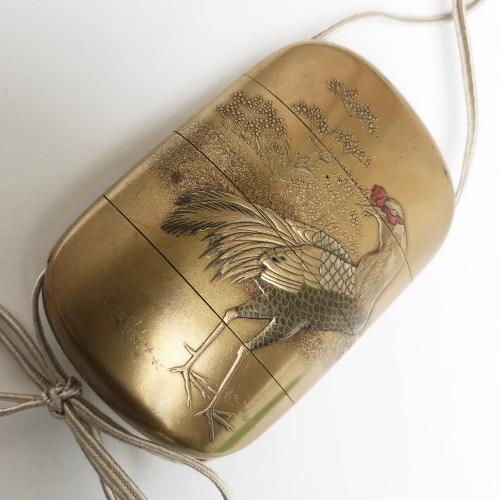 Asian Art & Antiques  - Gold lacquer inro, late Edo period mid 19th c
