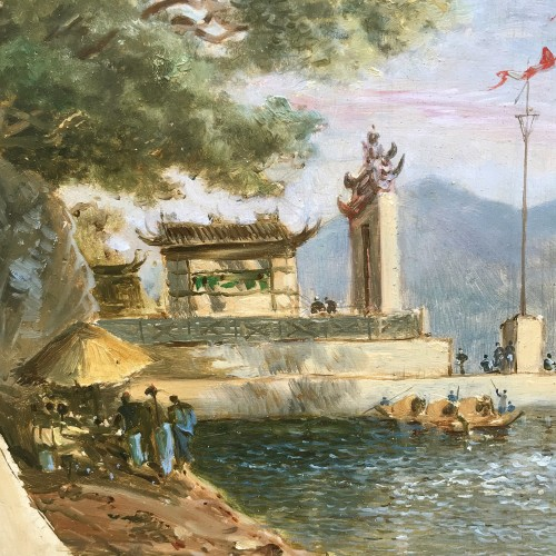 The Ma Kok temple - Macau circa 1838/39 - att to Auguste Borget - Asian Art & Antiques Style