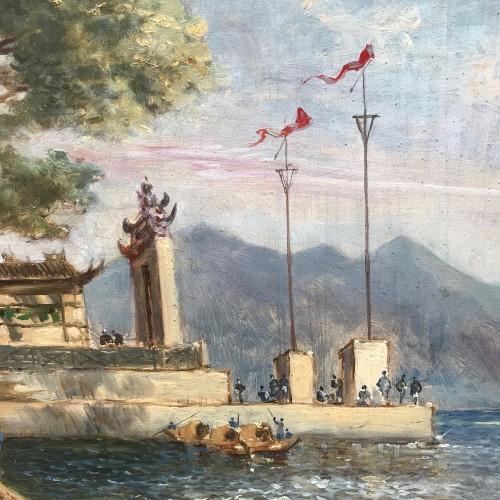 Asian Art & Antiques  - The Ma Kok temple - Macau circa 1838/39 - att to Auguste Borget