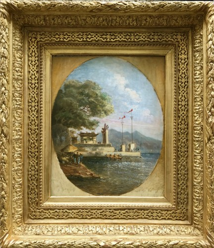 The Ma Kok temple - Macau circa 1838/39 - att to Auguste Borget -