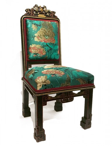 8 pieces living room set in the Japonism style, France circa 1880
