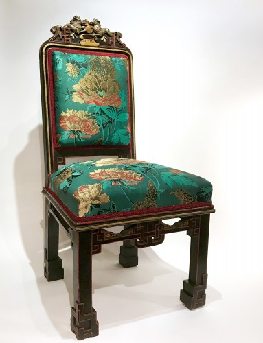 Seating  - 8 pieces living room set in the Japonism style, France circa 1880
