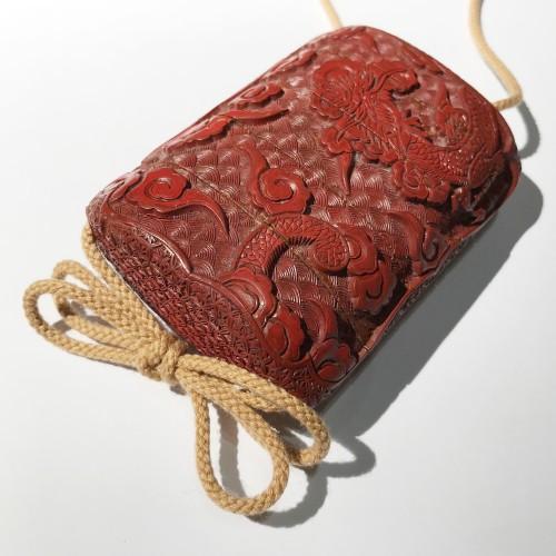 Tsuishu red lacquer  inro, Japan, Edo period -