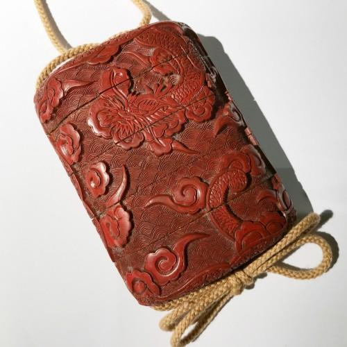 - Tsuishu red lacquer  inro, Japan, Edo period
