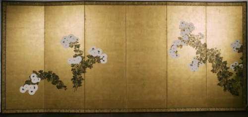 Asian Art & Antiques  - Japan, paire of folding screens, Rimpa school,  late Edo period