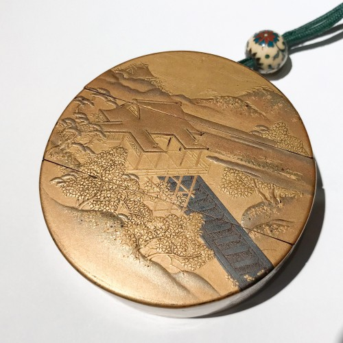 Round lacquer inro, Edo period 18th c -