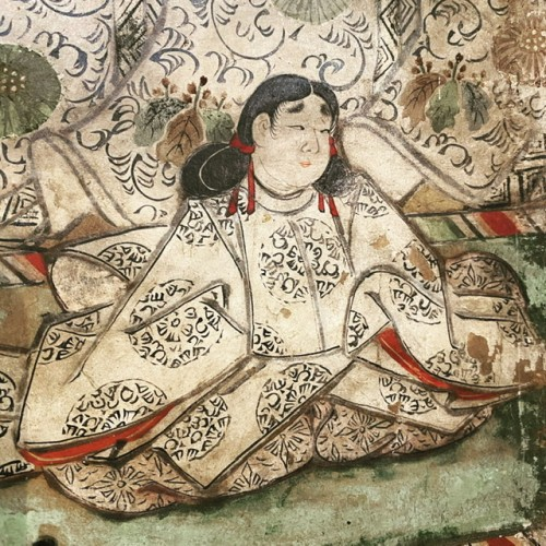 Folding screen, The Tale of Genji  Japan Edo period 17th  century - Asian Works of Art Style