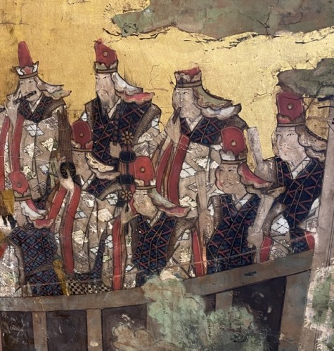 Asian Art & Antiques  - Folding screen, The Tale of Genji  Japan Edo period 17th  century