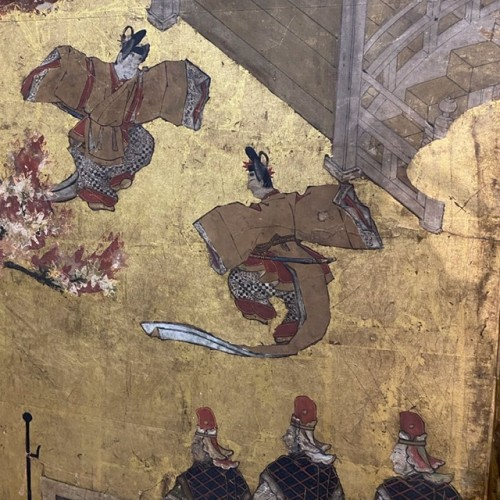 17th century - Folding screen, The Tale of Genji  Japan Edo period 17th  century