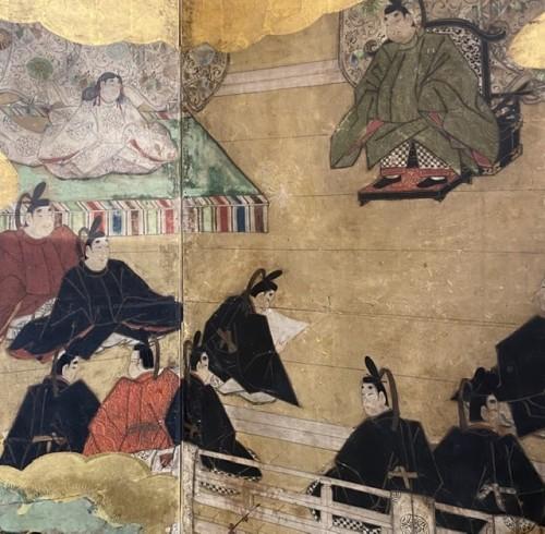 - Folding screen, The Tale of Genji  Japan Edo period 17th  century