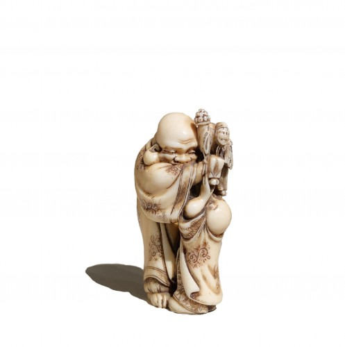 The puppeteer, netsuke by Hidemasa, Japan, Edo period, 19th c