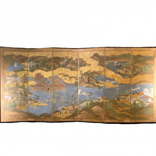 Folding screen,  the Itsukushima shrine, Japan, Edo period, 18th c