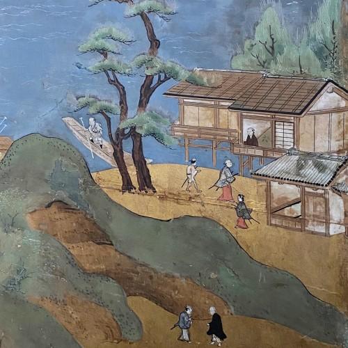 Folding screen,  the Itsukushima shrine, Japan, Edo period, 18th c - Asian Art & Antiques Style