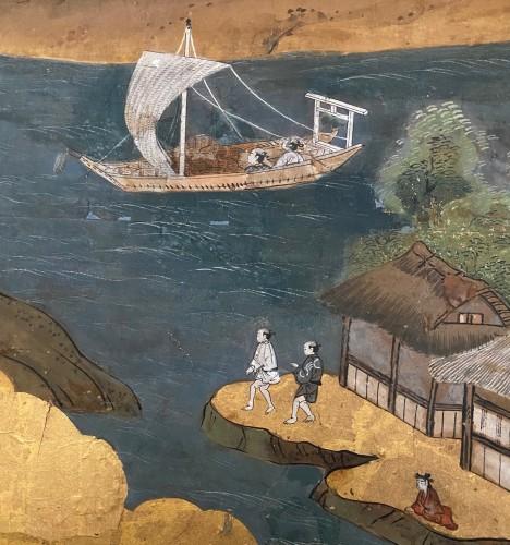 Asian Art & Antiques  - Folding screen,  the Itsukushima shrine, Japan, Edo period, 18th c