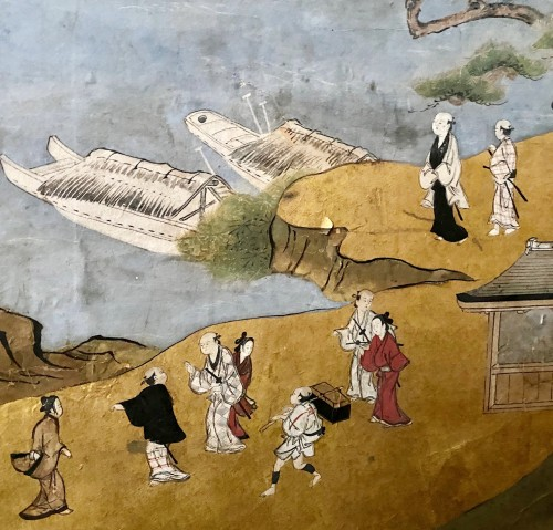 - Folding screen,  the Itsukushima shrine, Japan, Edo period, 18th c