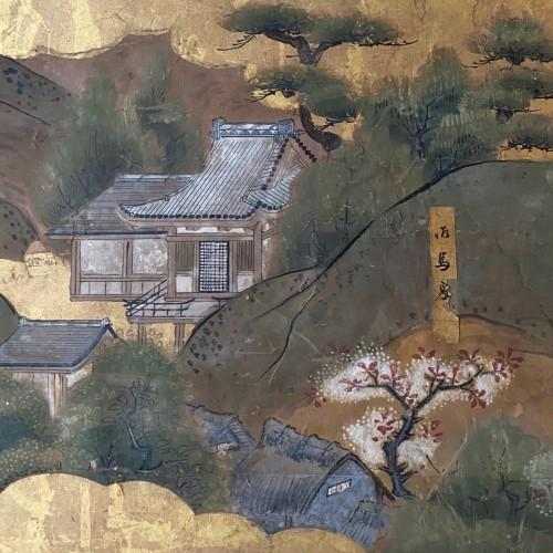 Antiquités - Folding screen,  the Itsukushima shrine, Japan, Edo period, 18th c