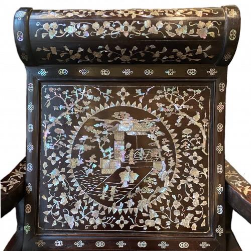 Moon gazing Chair, China or Vietnam, 19th century  -