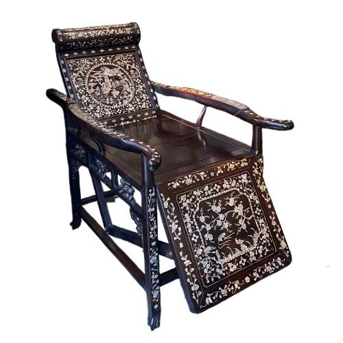 19th century - Moon gazing Chair, China or Vietnam, 19th century