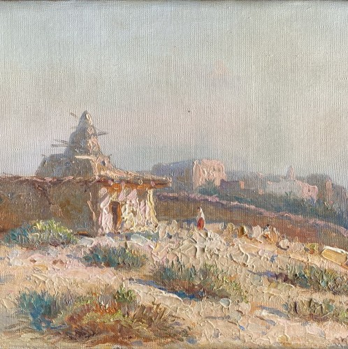 Constant Louche (1880-1965) - Landscape, view of M'Sila - Paintings & Drawings Style