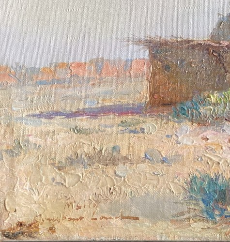 Paintings & Drawings  - Constant Louche (1880-1965) - Landscape, view of M'Sila