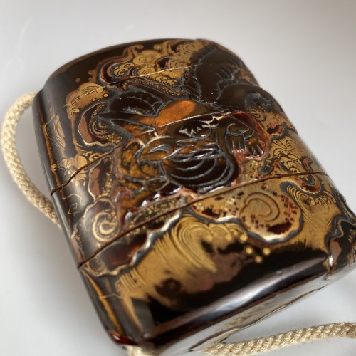 18th century - Japan, lacquer and tortoiseshell inro, Edo period, early 18th century