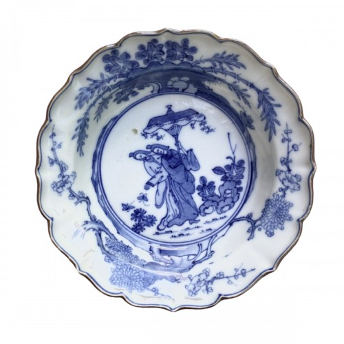 A Japanese Blue and White Porcelain flat bowl c.1690 – 1740