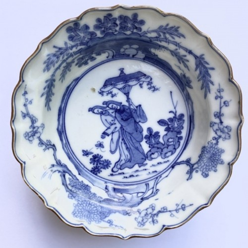 18th century - A Japanese Blue and White Porcelain flat bowl c.1690 – 1740