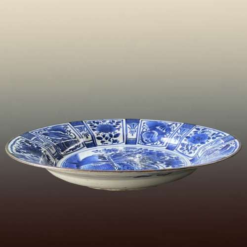 Asian Art & Antiques  - Japan, large blue and white porcelain charger, 17th century