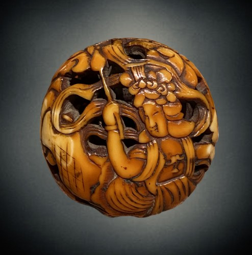 Asian Works of Art  - Ryusa Manju, Tennin, Asakusa School, Tokyo, Edo period
