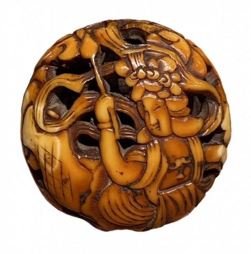 Ryusa Manju, Tennin, Asakusa School, Tokyo, Edo period -