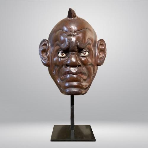Asian Works of Art  - Ikki ningyo face mask, Japan, Meiji period 19th century