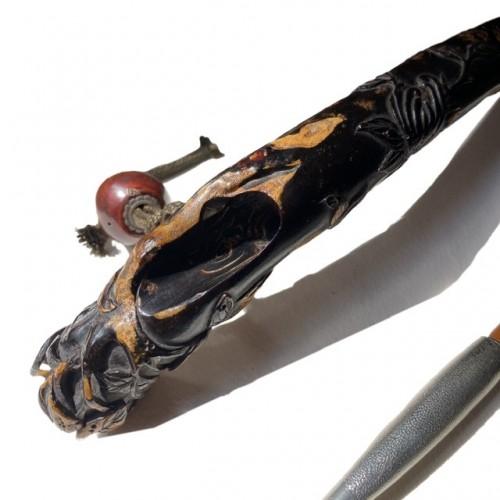 Asian Art & Antiques  - Japan, An umimatsu kizeruzutsu, Iwami school, Edo period, late 18th, early