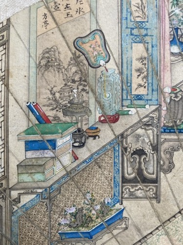 China,  fan leaf painting, Qing dynasty, 18th century -